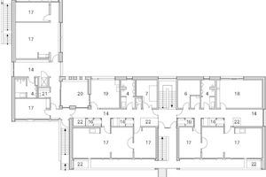 Grundriss 1. Obergeschoss M 1:400, Kita Niddaforscher