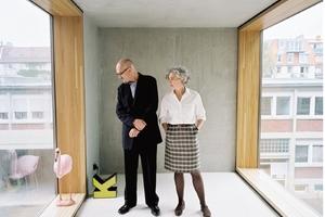 Peter Wilson und Julia Bolles-Wilson in ihrem Büro in Münster