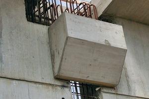 Betonkonsole als Montageauflage für die Dachbinder