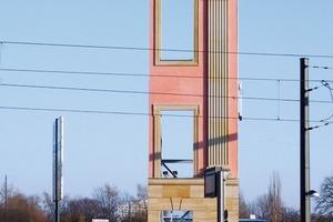 Bereits im Januar 2011 errichtet: Musterfassade für das neue Schloss in Potsdam<br />