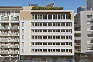 Turkali Architekten holten mit der Sanierung das 1972 erbaute Haus des Handwerks hinsichtlich des Brandschutzes und der Gebäudetechnik sowie der Büroräume in die heutige Zeit
