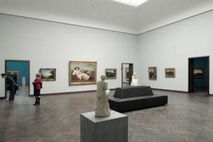 """Ausstellungsraum im Altbau, Gartenflügel, """"Kunst der Moderne"""" (1800-1945)"""