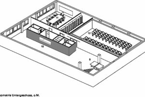 Isometrie Untergeschoss, o.M.