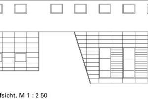 Dachaufsicht, M 1:250<br />