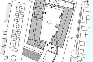 Lageplan, M 1:1 750