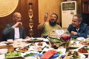 Pavillon-Team: Jacques Herzog &amp; Pierre de Meuron mit Ai Weiwei<br />