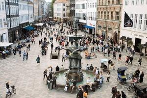 Öffentlicher Platz in Kopenhagen, Dänemark