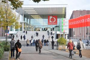 Eingang Süd des Messegeländes Köln / Orgatec
