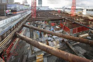 Für die Stützen der unteren Geschosse wurde ein C80/95 Beton verwendet