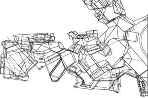 Grundriss Zellstruktur, M 1:75
