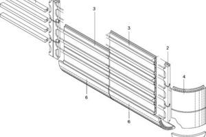 Isometrie der Ziegelfassade<br />