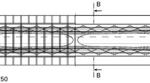 Grundriss Osthafenbrücke, M 1:1250