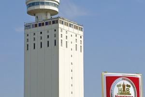 Der Henninger Turm in Frankfurt-Sachsenhausen