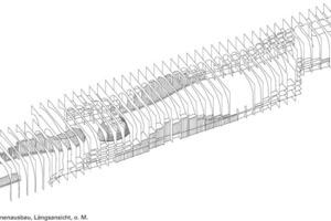 Isometrie Innenausbau, Längsschnitt, o.M.<br />
