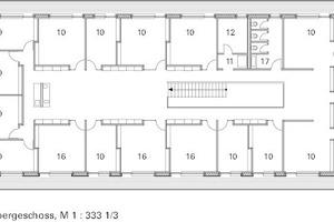 Grundriss Obergeschoss, M 1:333 <sup>1</sup>/3