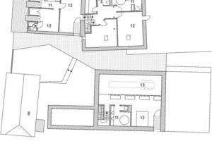 Grundriss Obergeschoss, M 1:333 <sup>1</sup>/3<br />