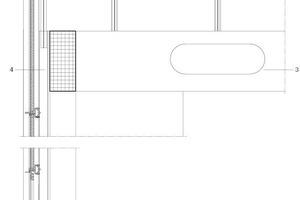 Fassadenschnitt, M 1:75