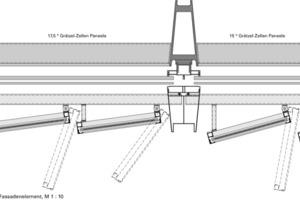Detailschnitt Fassadenelement, M 1:10