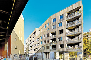 Berlin-Tiergarten, Pohlstraße. Baugruppe Dennewitz Eins – Solitär am Gleisdreieck