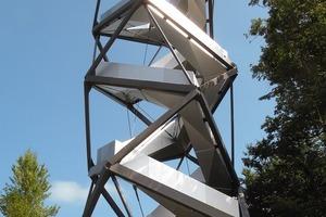 Der Murturm besteht beinahe nur aus 336 Stufen; plus Stützwerk<br />