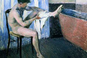 Gustave Caillebotte, Studie zum Mann, der sich das Bein abtrocknet, 1884 Öl auf Leinwand, 100 x 125 cm  Privatsammlung