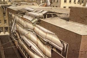 """SCAB Gebäude, Bestandteil von """"Pamphlet Architecture 15"""": Krieg und Architektur (1993)"""