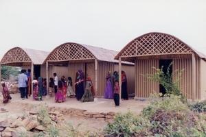 Paper Log House, 2001, Bhuj, India