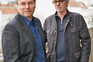 von links nach rechts:  Architekt Wolfram Popp und der Statiker Schneider<br />