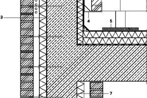 Dachanschluss Vordach, M 1:15