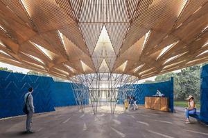 Serpentine Pavilion 2017, Designed by Francis Kéré, Design Render, Interior