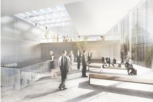 2. Preis: Grüntuch Ernst, Berlin, mit selten hochstehender Sonne in Nordosten, ihr Licht gefiltert durch Gitterhemdstruktur