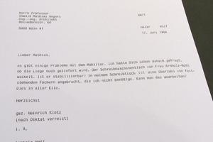 Fundstück im Direktorenzimmernachbau<br />