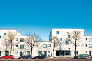 München, Bad-Schachener-Straße. Quartiersergänzung durch straßenbegleitende Wohnbebauung