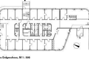 Grundriss, M 1:500<br />