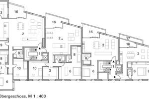 1. Obergeschoss, M 1:400<br />