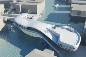 Entwurf für das Provisorium Ponte dall Accademia, Venedig