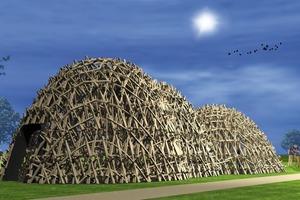 """Visualisierung des """"Echolot""""-Pavillons<br />"""