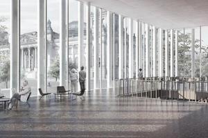 Innenraumperspektive: Blick auf Bundestag<br />