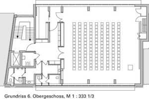 Grundriss 6. Obergeschoss, M 1:333 <sup>1</sup>/3