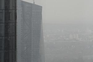 Gesehen vom 44. Geschoss des Trianon aus: die EZB. Kein Kandidat für den IHP ... vorläufig jedenfalls