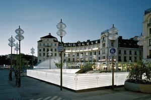 Eingang zu den Stachus Passagen in München, 2011<br />