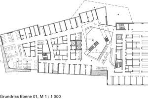 Grundriss Ebene 01, M 1:1000<br />
