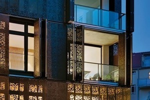 Fassadentyp 1: mobile Faltfassade aus Metall