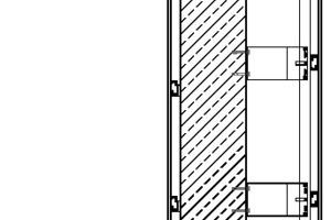 Fassadenschnitt Bügel, M 1:25