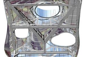 <br />Zur Kommunikation zwischen Architekt, Ingenieur und Stahlbauer dienten die erstellten 3-D-Modelle