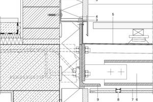 Detail Balkon Fassade, M 1:7,5<br />