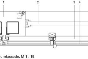 """<div class="""""""">Detail Aluminiumfassade, M 1:15</div>"""