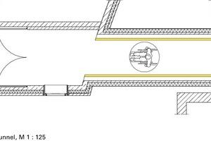 Grundriss Tunnel, M 1:125<br />