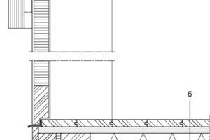 Detailschnitt Eingangstür, M 1:125<br />