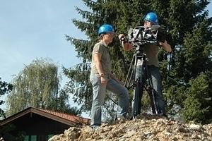 Der Bau wird ebenso vom Kamerateam des BR begleitet